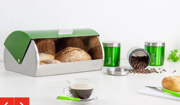BREAD BIN AND CANUSTERS SET.