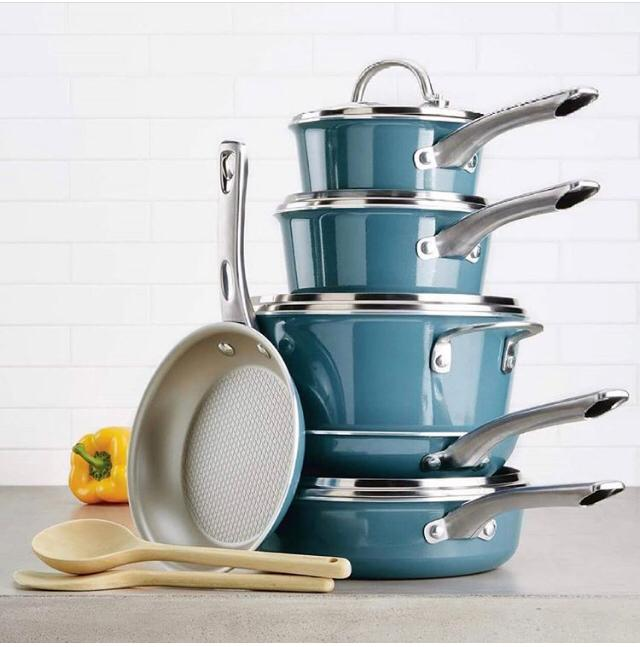 Ayesha Curry 12 – Piece Cookware Set.