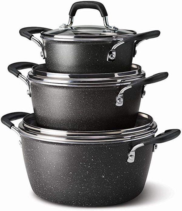 Tramontina 6-Piece Stackable Cookware.