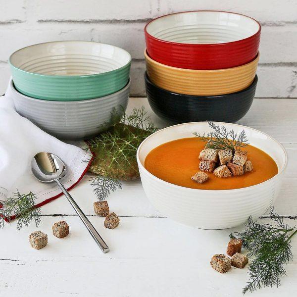 6-Piece Farmhouse Bowls Set (Assorted).