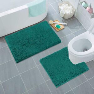 2Piece Luxury Bathroom Mats in Assorted Colours.